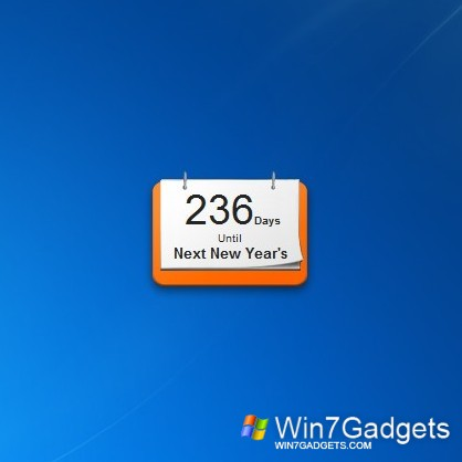 Day Counter - Windows 7 Desktop Gadget