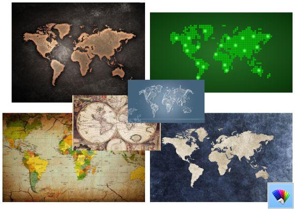 World Map theme for Windows 8