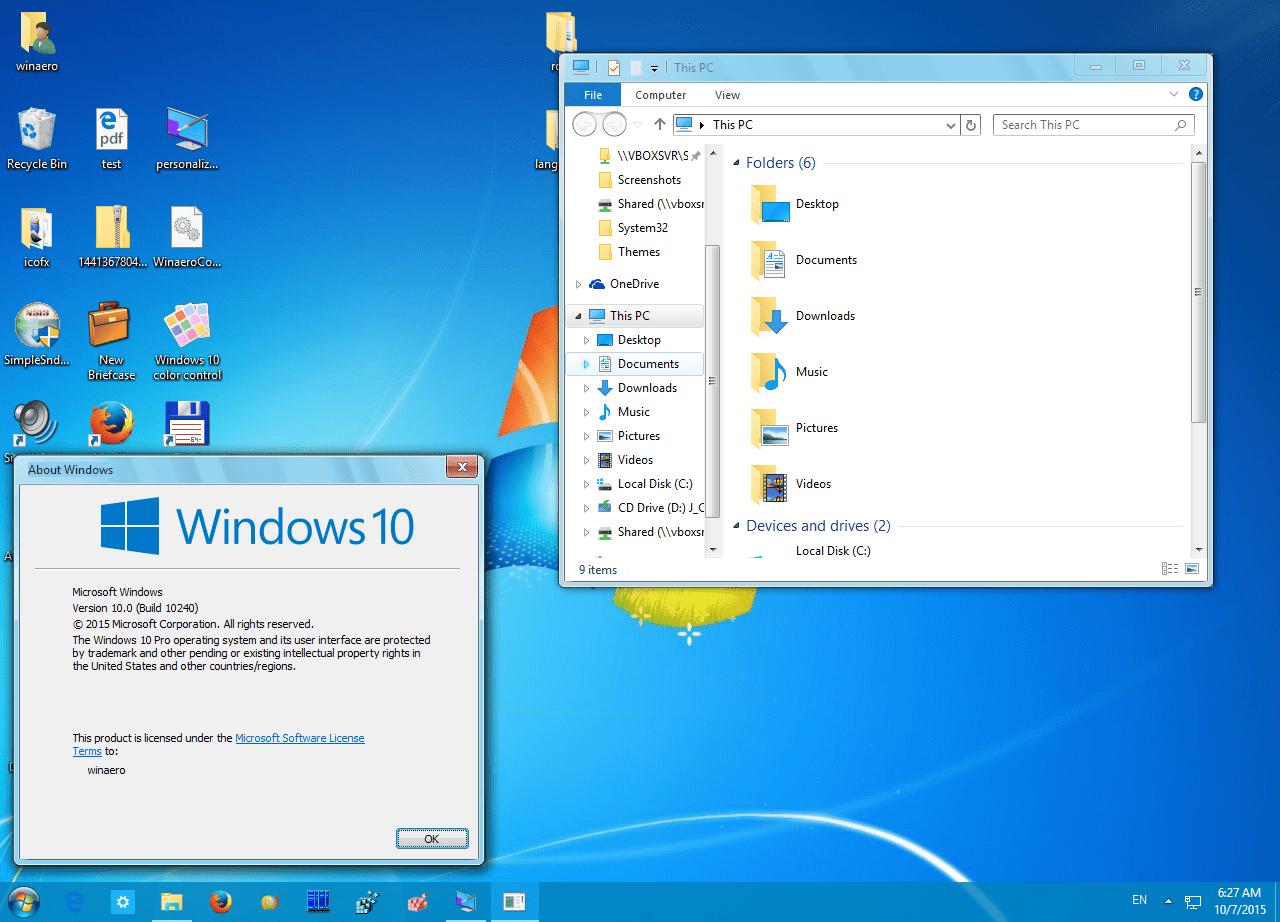 Classic 3d Desktop Workplace Wallpaper Get Windows 7 Theme For Windows 10