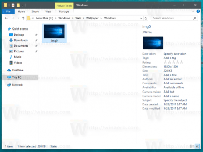 Where are Windows 10 Default Wallpapers Stored - Winaero