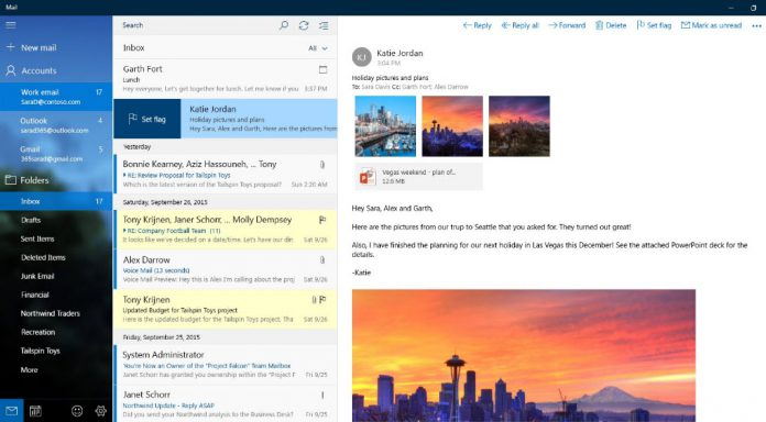 Update for Windows 10 Mail app adds more accessibility features