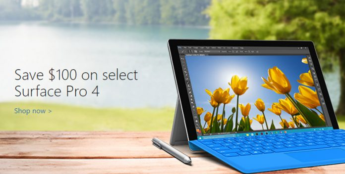 Microsoft Store\u0027s Spring Sale Is on, $100 off for Surface Pro 4