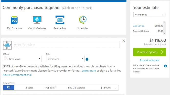 Microsoft Releases Pricing Calculator for Azure Government - WinBuzzer