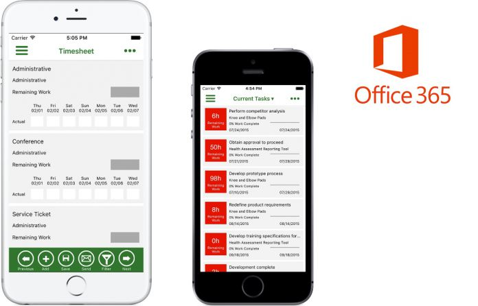 Microsoft Office 365 Project Time Reporter Comes to iOS (Android and
