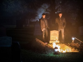 """Supernatural -- """"The Foundry"""" -- SN1203a_0389.jpg -- Pictured (L-R): Jensen Ackles as Dean and Jared Padalecki as Sam -- Photo: Dean Buscher/The CW -- © 2016 The CW Network, LLC. All Rights Reserve"""