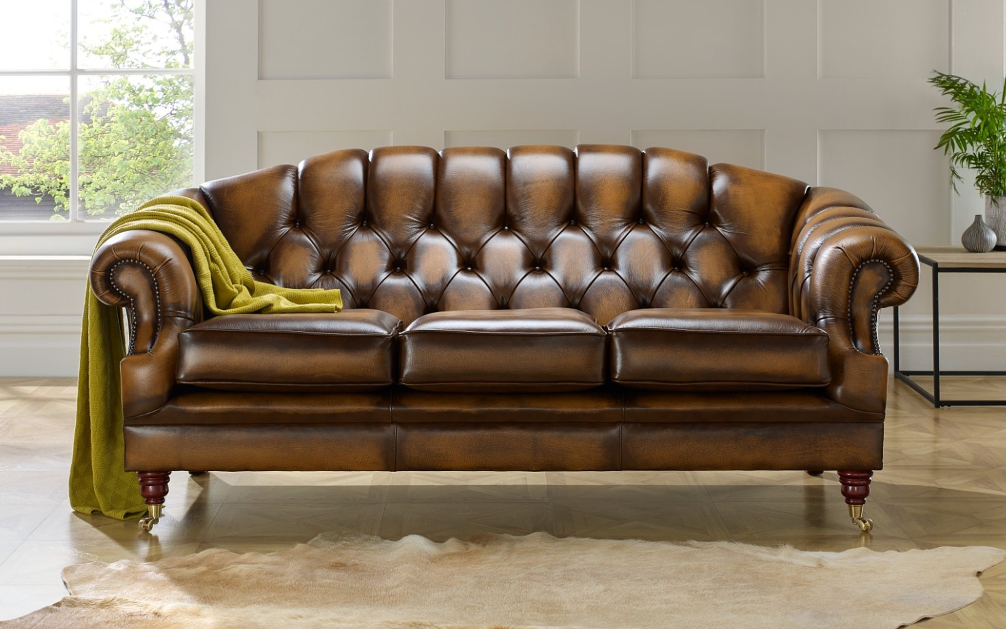 Chesterfield Sofa Brown Leather The Victoria Chesterfield Sofa