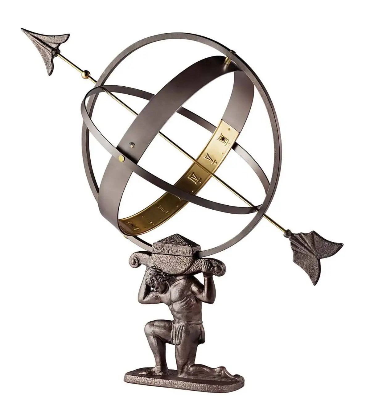 Atlas Statues For Sale Atlas Armillary Sundial Metal Yard Sculpture Metal