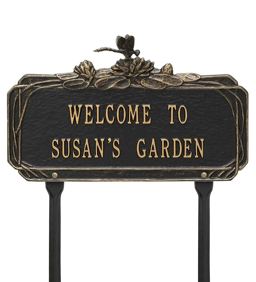 Welcome Statues Garden Personalized Garden Plaques Landscaping Solutions Yard Patio