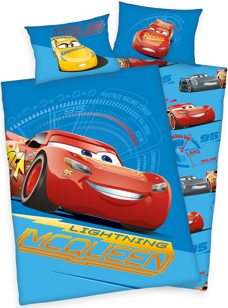 "Bettdecken 100x135 Herding Bettwäsche Cars ""lightning Mcqueen"