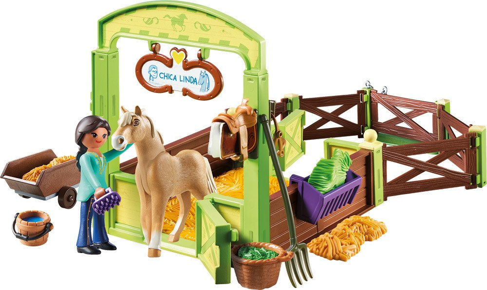 "Baby Laufgitter Playmobil® Spirit - Riding Free - 9479 - Pferdebox ""pru"