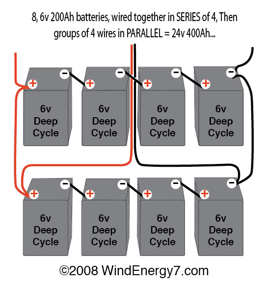 Battery Series Wiring Diagram Electronic Schematics collections