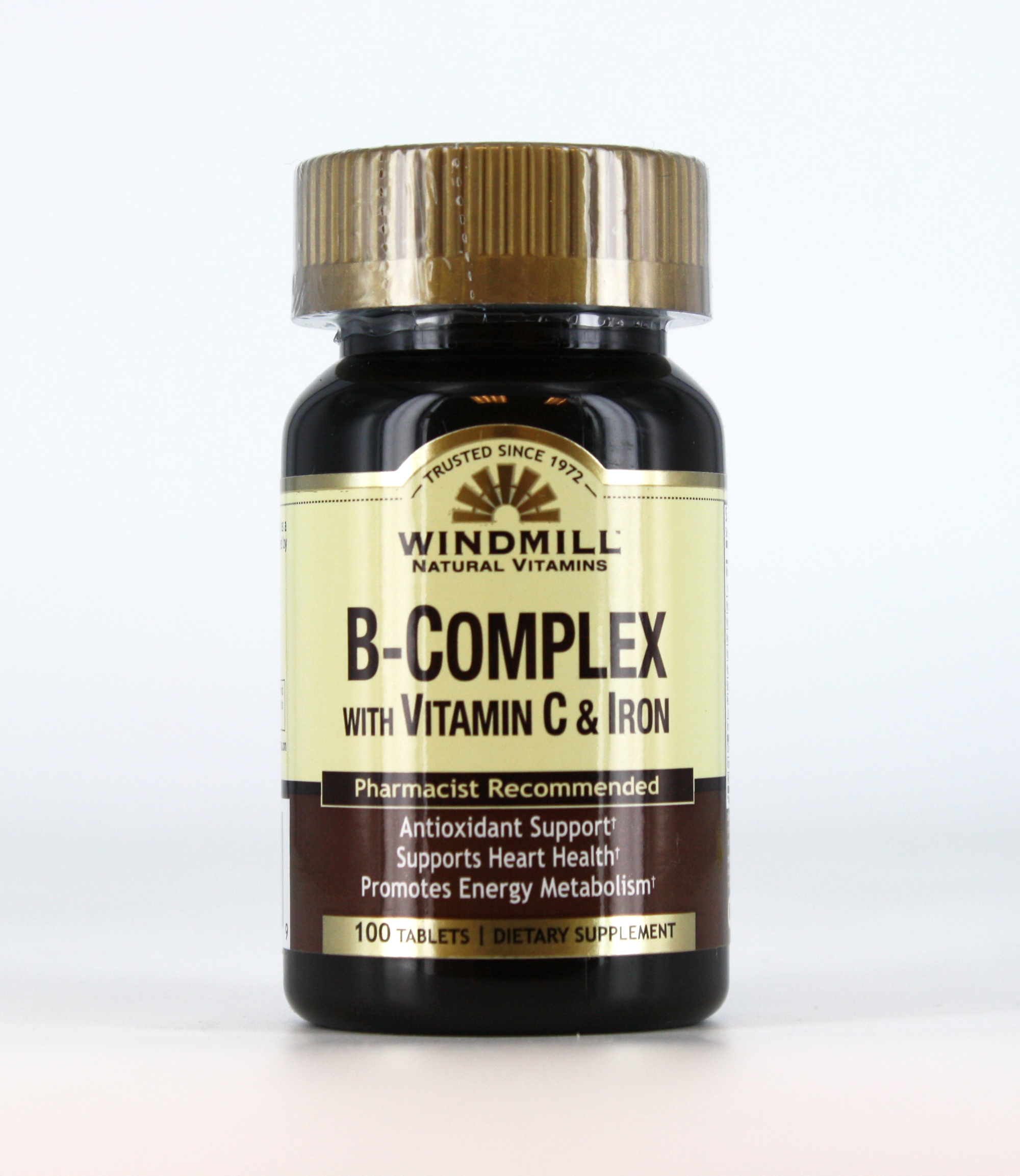 Foods Vitamin B 50 B Complex With C Iron Windmill Vitamins