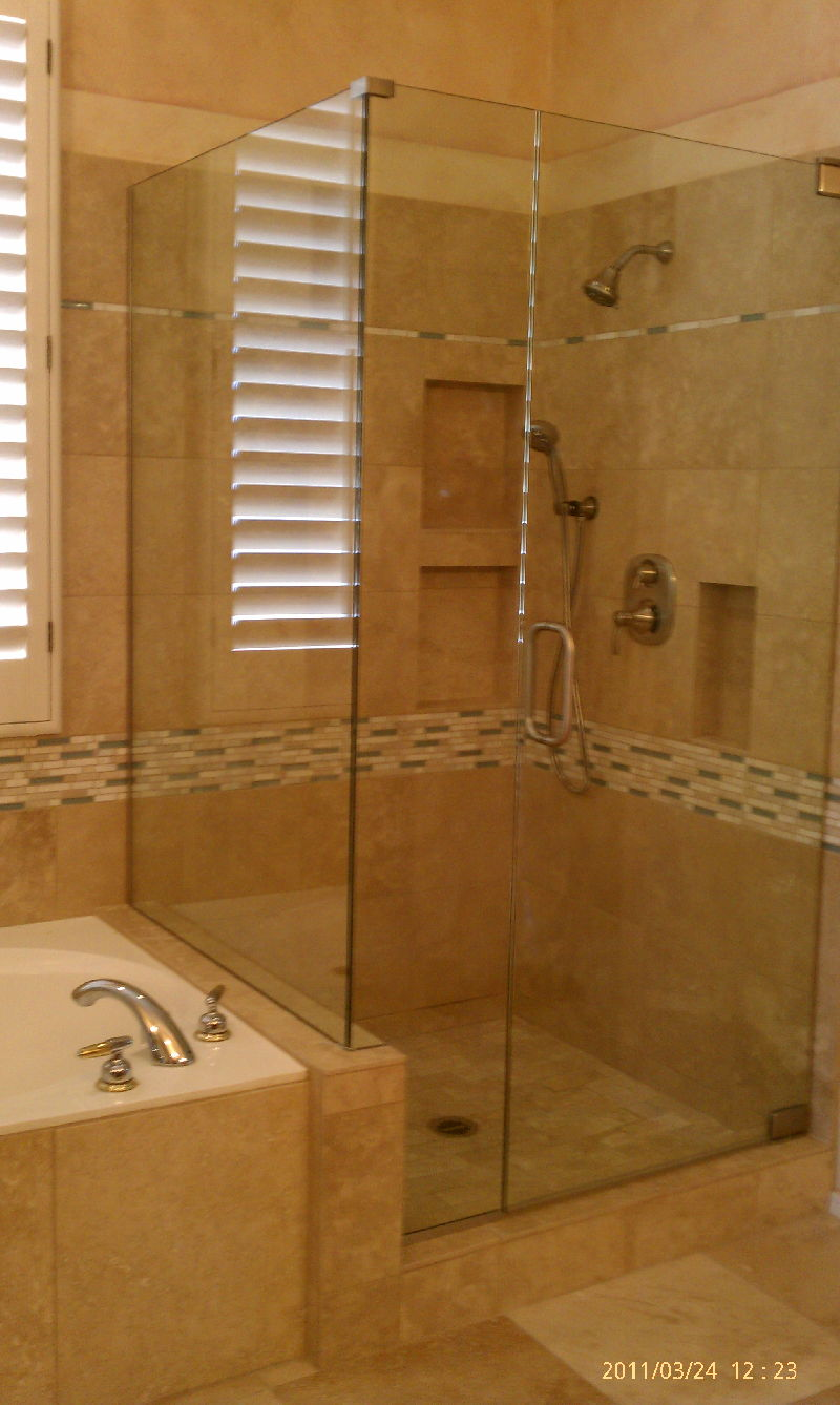 Frameless Mirror Gym Custom Shower Enclosures Colorado By Window Glass Pros