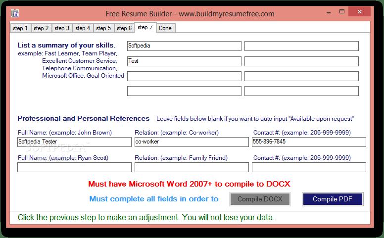 resume builder software free download windows