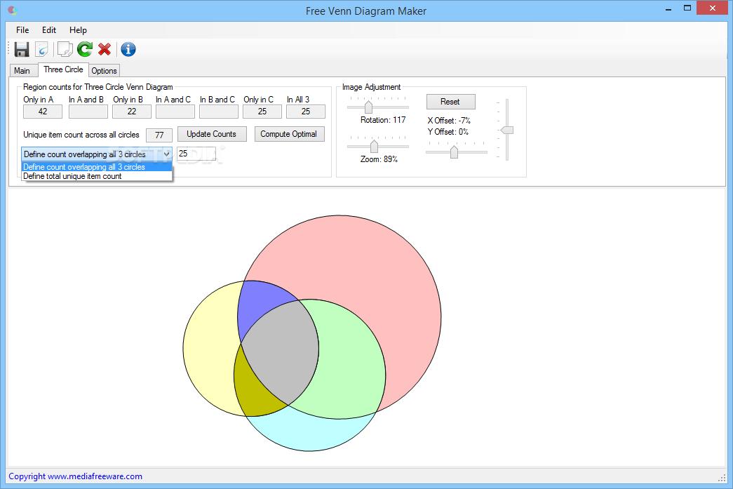 venn diagram 2 circles maker