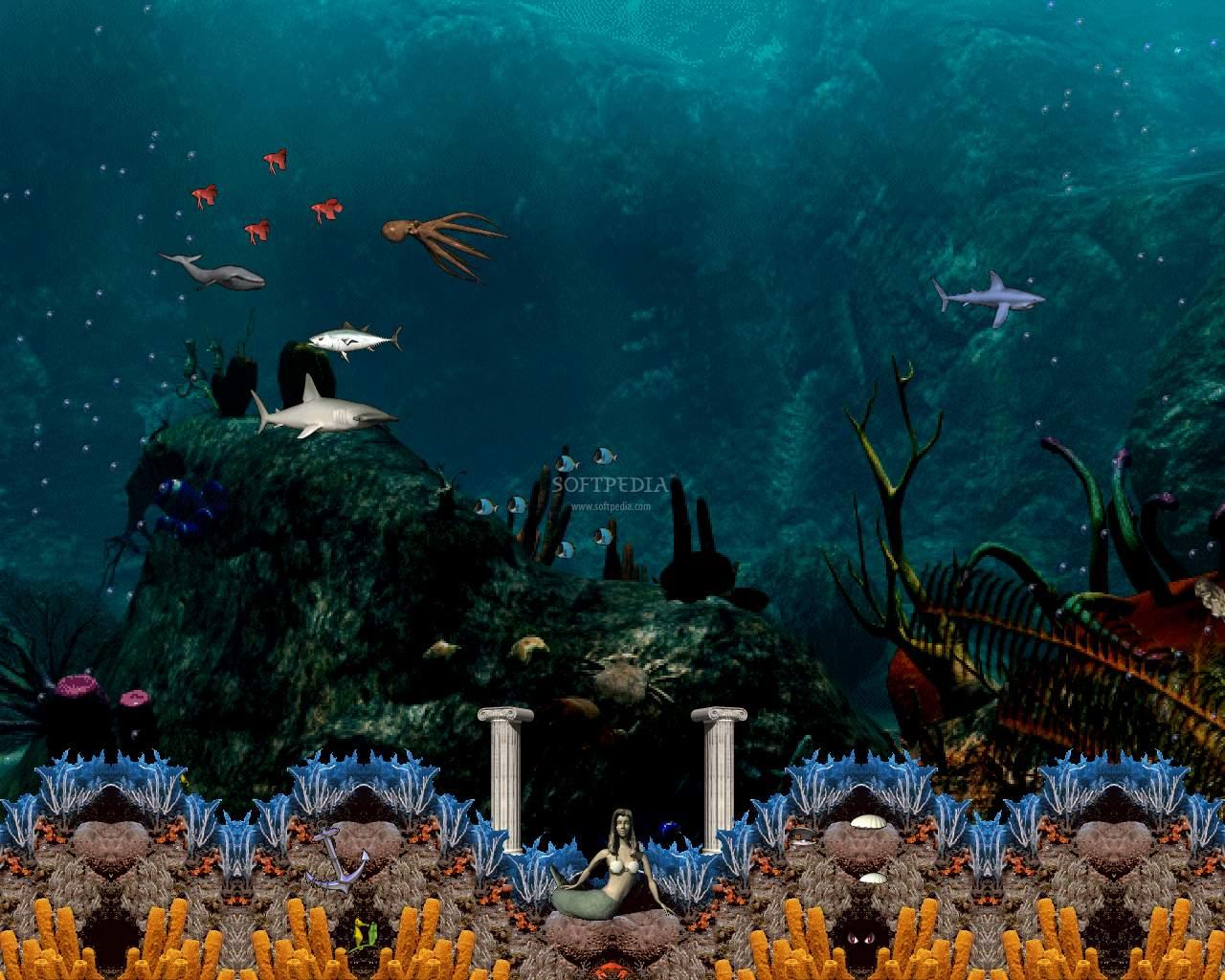 Wallpaper 3d Mario Bros Download Tropical Aquarium Screensaver 7 0