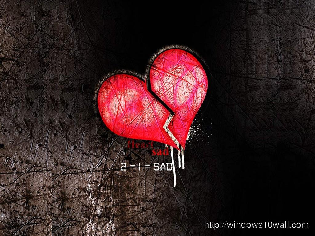 Broken Heart Quotes Wallpapers Free Download Sad Heart Wallpaper Free Download Windows 10 Wallpapers