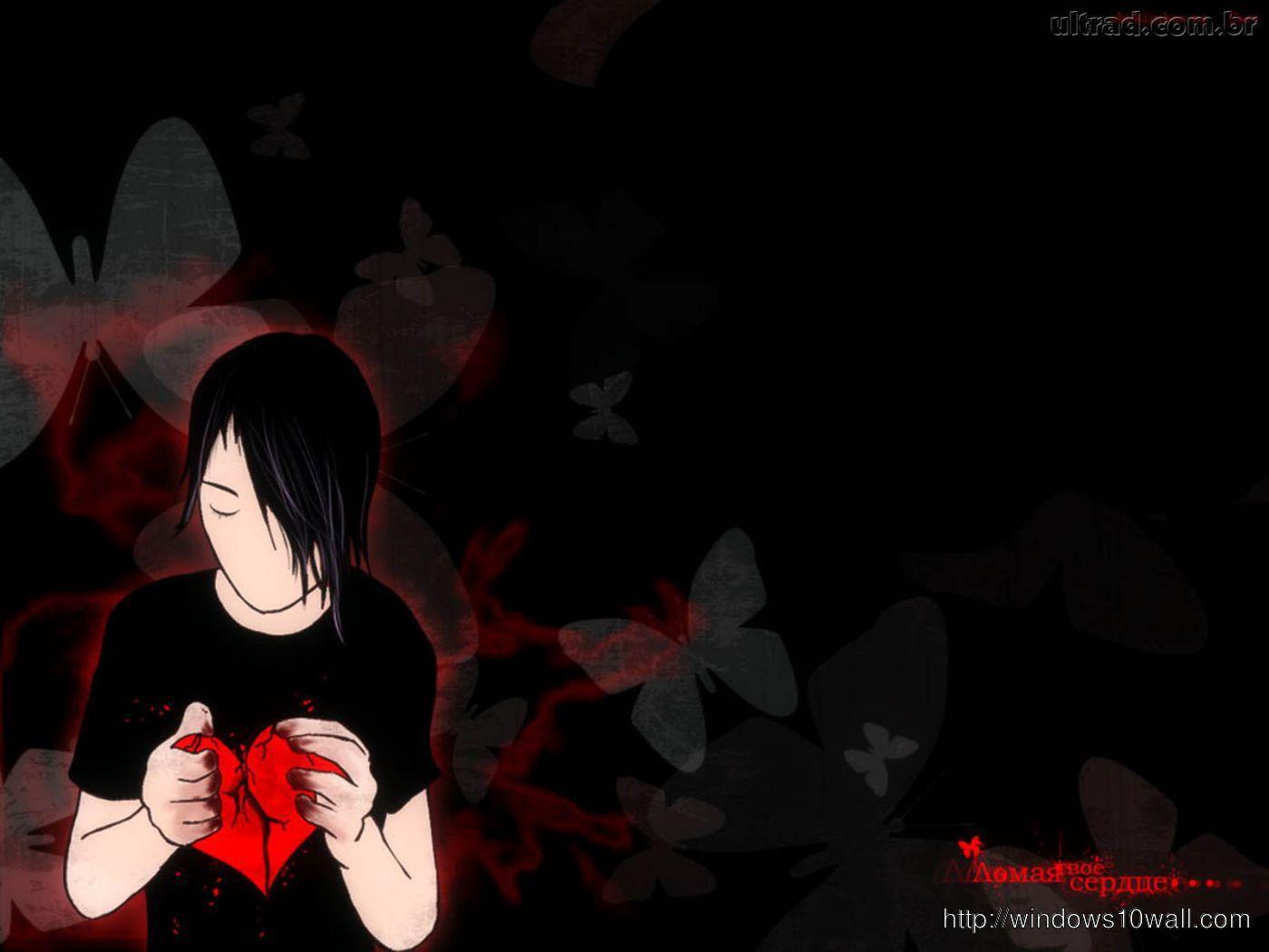 Sweet Sad Girl Hd Wallpaper Broken Heart Dark Background Windows 10 Wallpapers