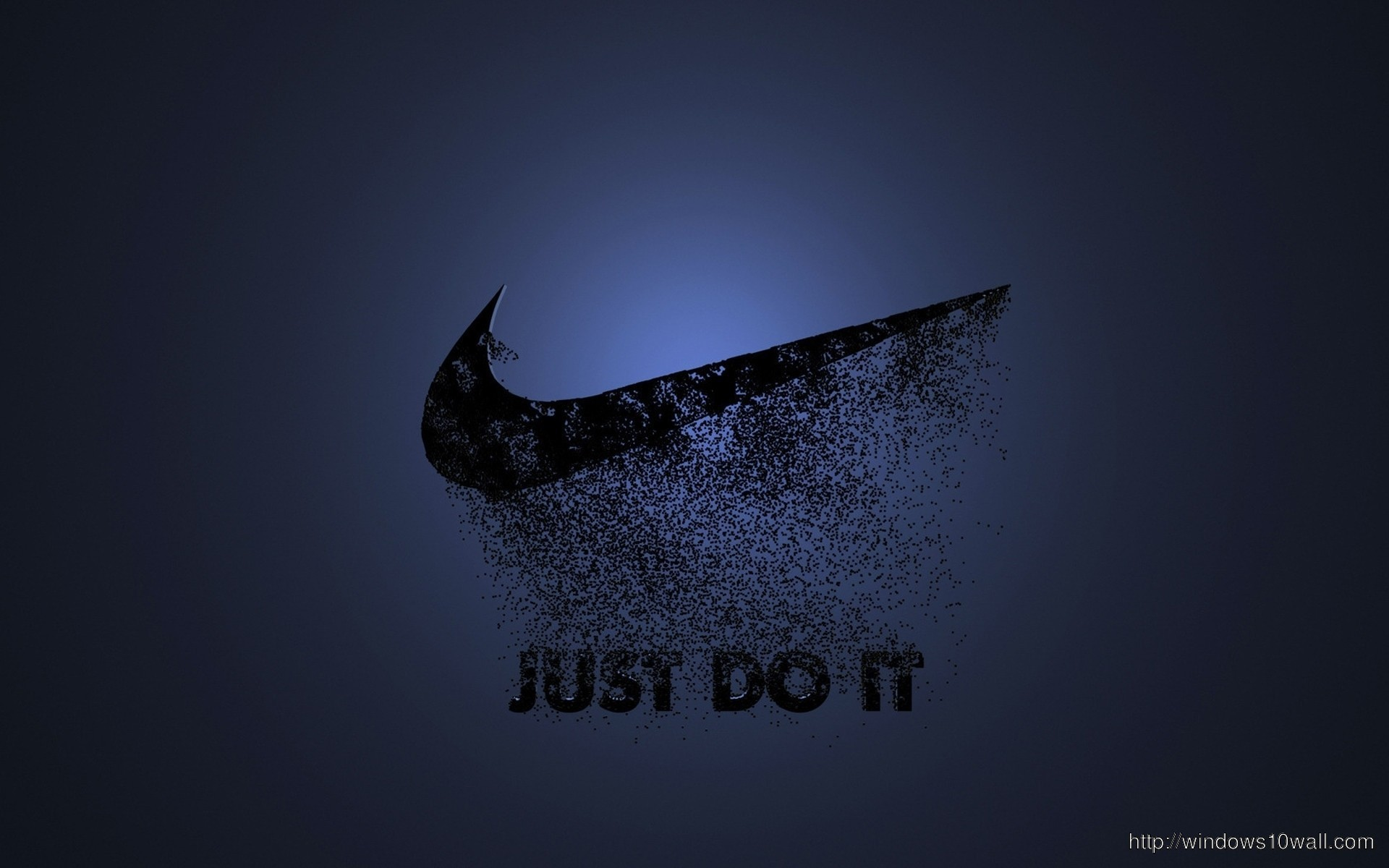 Funny Wallpapers Nature With Small Quotes Black Nike Just Do It Blue Background Wallpaper Windows