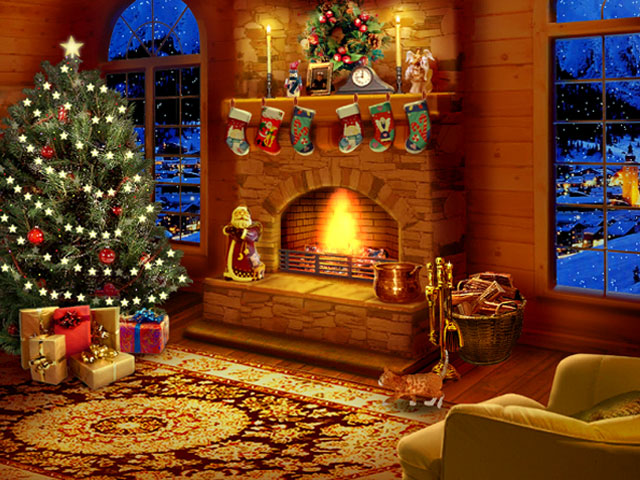 3d Snowy Cottage Animated Wallpaper Windows 7 Night Before Christmas Screensaver