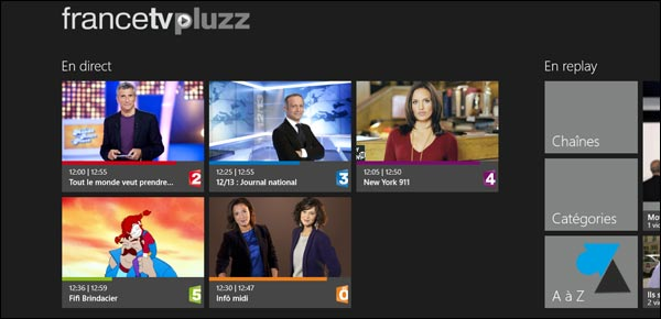 Arte Direct Pluzz Regarder Télévision Et Replay Tv Sur Windows 8 / Rt