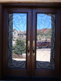 Front Entry Doors-Wrought Iron Doors, Fiberglass Woodgrain ...