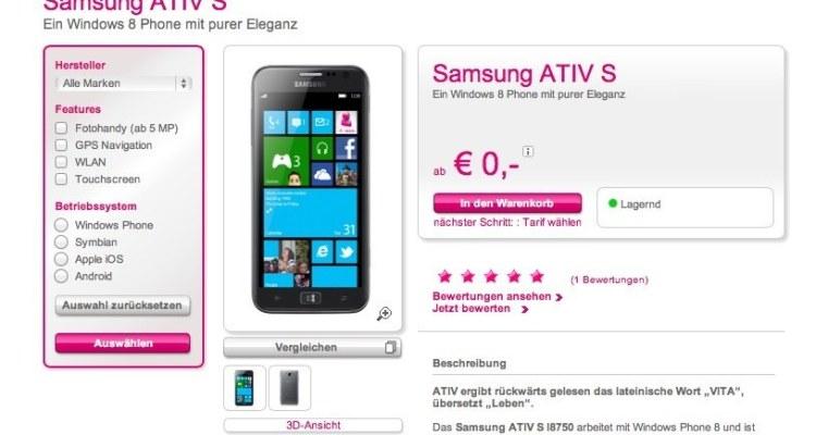 Samsung ATIV S Telekom Österreich