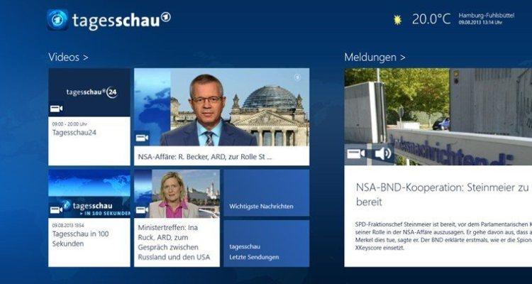 Tagesschau Windows 8 - Screenshot