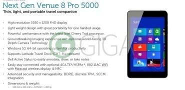 Dell Venue 8 Pro 2015