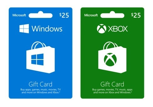 microsoft app store gift cards