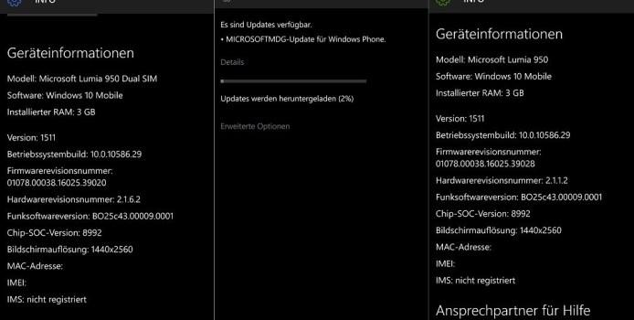 Microsoft veröffentlicht Firmware-Update für das Lumia 950