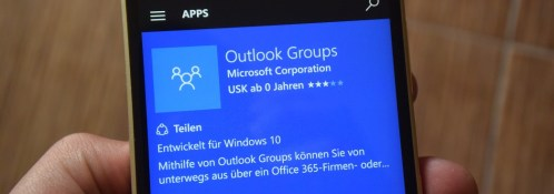 Outlook Groups Windows Store