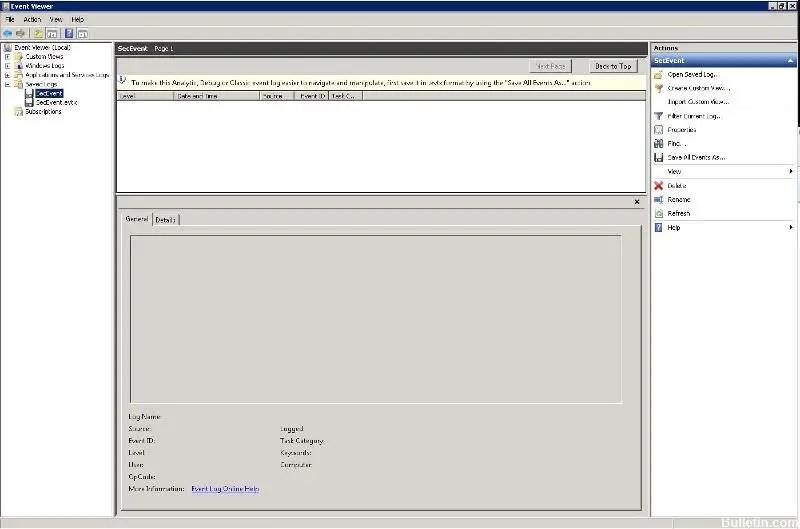 Fixing Corrupted EVTX Files (Solved) - Windows Bulletin Tutorials