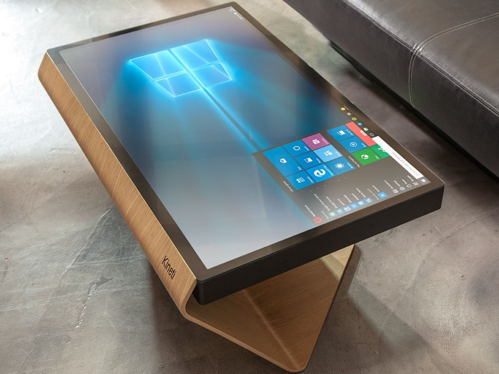 Table Pc The Kineti Offers A New Look At A Windows 10 Living Room