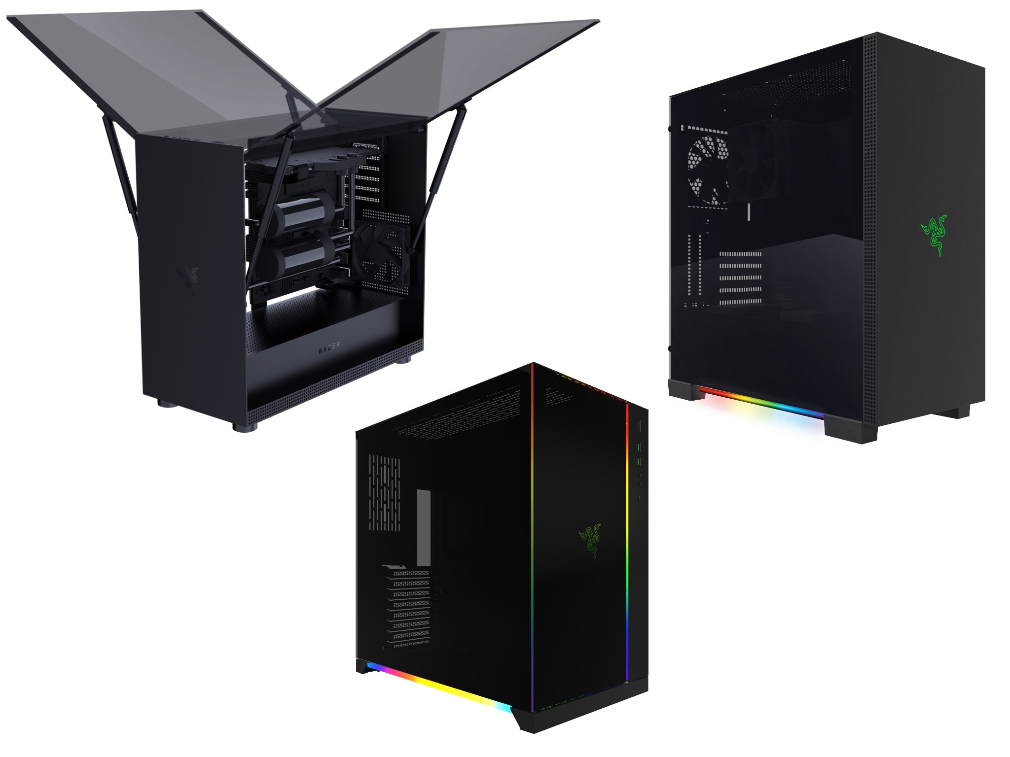 Case Pc Razer Launches Three Desktop Pc Cases With Chroma Lighting And