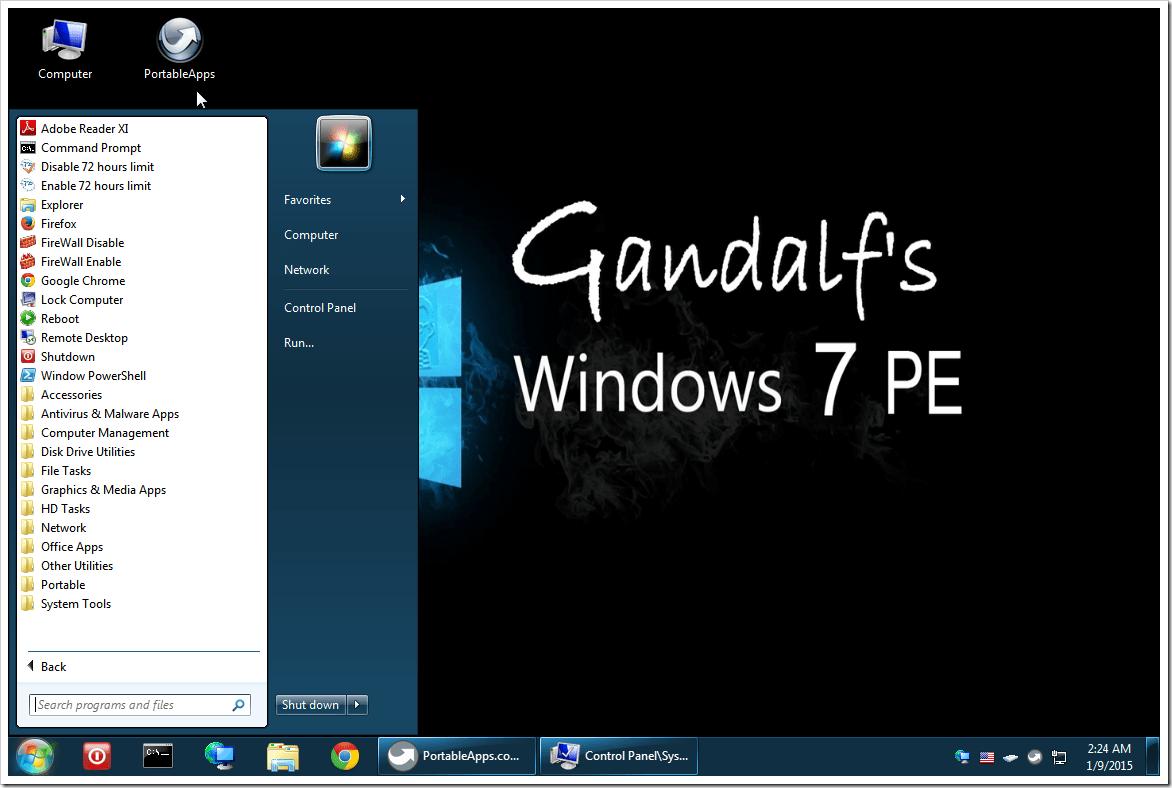 Gandalf 39 s windows 7 pe x86 musings of an it pro for Windows windows windows