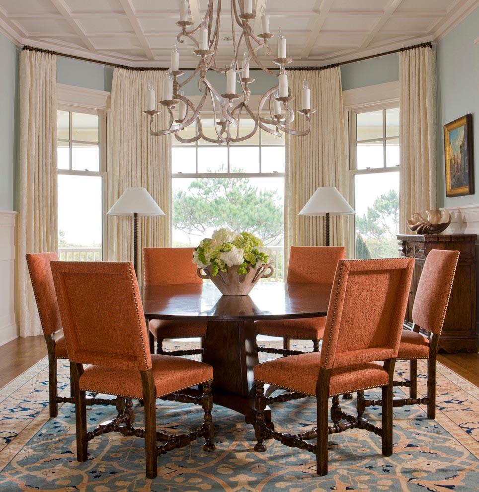 Dining Room Bay Window Treatments