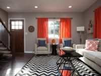 Orange Curtains For Living Room | Window Treatments Design ...