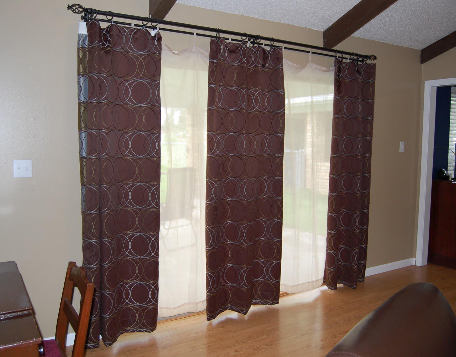 Patio Door Curtain Rods Window Treatments Design Ideas