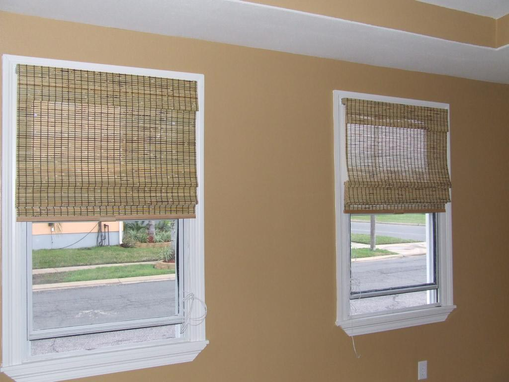 Diy Roman Shades For French Doors Bamboo Cordless Roman Shade Window Treatments Design Ideas