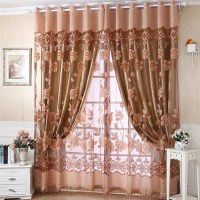 Brown Sheer Scarf Valance | Window Treatments Design Ideas