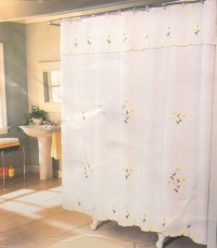 Double Swag Shower Curtain Attached Valance | Window ...