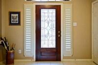 Front Door Side Window Blinds | Window Treatments Design Ideas
