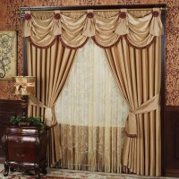 Living Room Drapes With Valances | Window Treatments ...