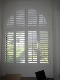 Wood Blinds Arched Windows | Window Treatments Design Ideas
