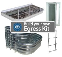 Build your own Egress Window Kit - Window Well Covers