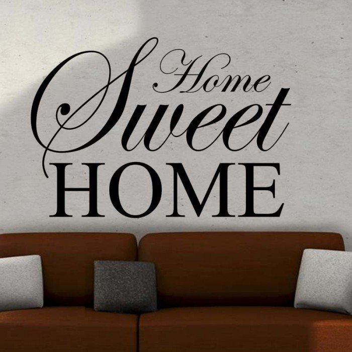 home sweet home wall art sticker quote large decor wall transfer benefits inspirational wall art stickers inspirational wall art