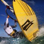 Brian de action man Talma does a cut back at silversands Beach Barbados