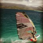 Robby Naish Slalom sailing at Kaneoho Bay on Oahu