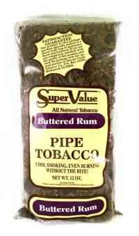 Super Value Buttered Rum Pipe Tobacco - 12 Oz